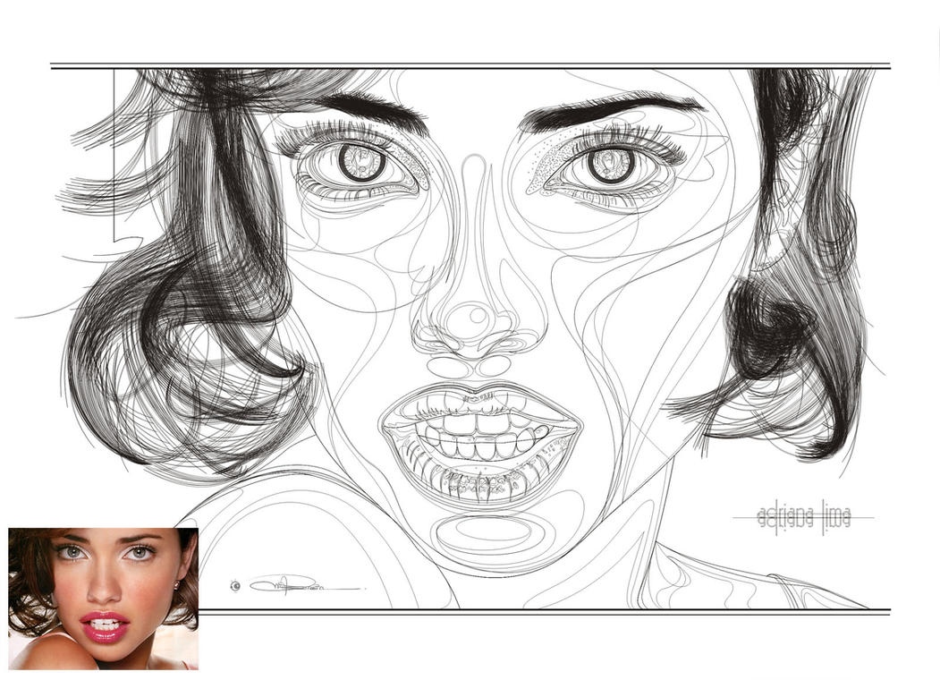 adrianaLima_outlines by cd-marcus