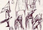 204 - unmasked Pyramid Head sketch