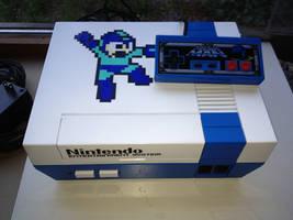 Mega Man themed NES. by Hananas-nl