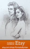 Twelfth Doctor and Clara Oswald - Doctor Who Art by PortraitsByAlan