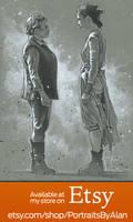 Leia and Rey - Star Wars Portrait Art