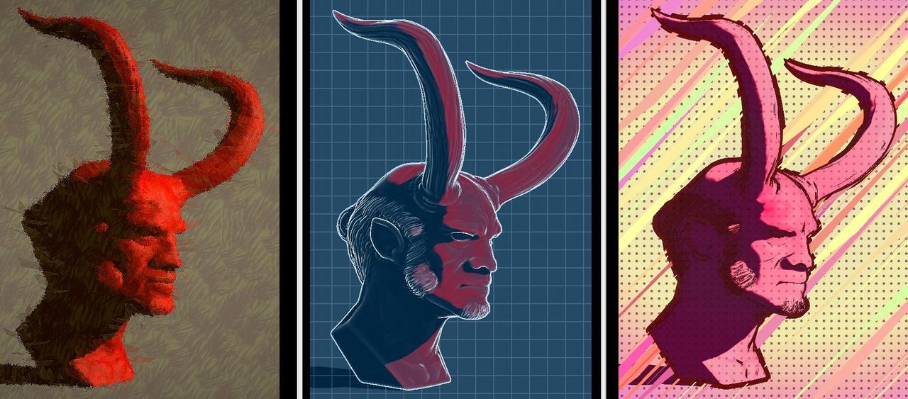Hellboy ala Warhol by zeustoves