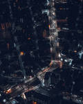 Tokyo street from above