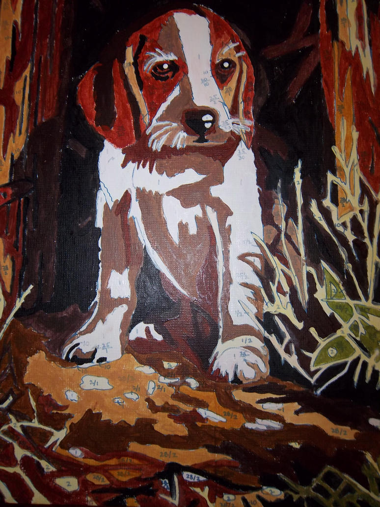 Beagle painting by BlueMoonScorpio