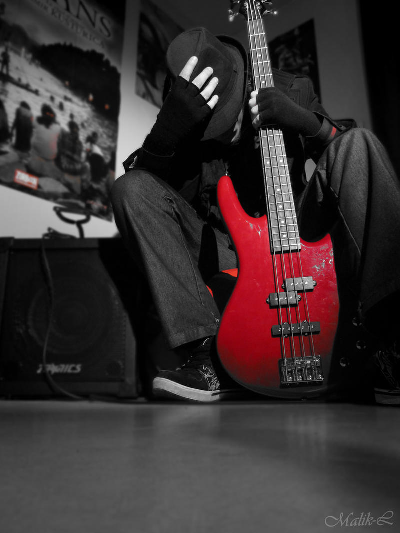 My Bass Guitar By Alcide M