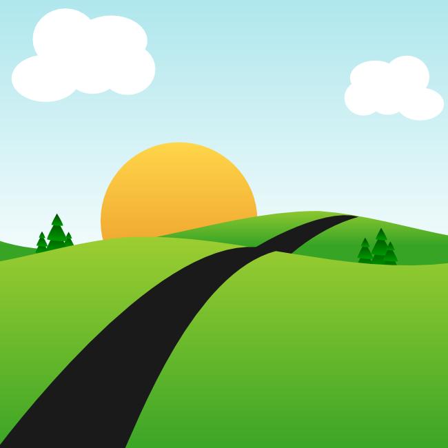 vector cartoon landscape backgroundsfree - photo #36