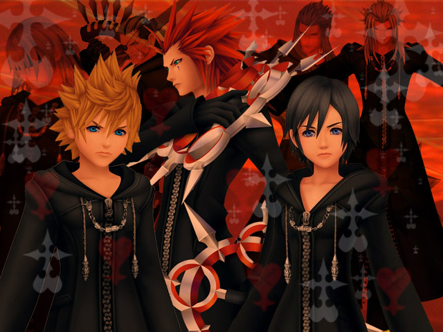 Xion And Roxas And Axel Roxas Xion And Axel by
