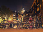 Night in Amsterdam 5 by Csipesz