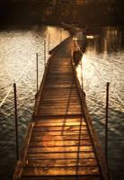 Footbridge... by Csipesz