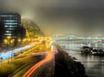 Night traffic by Csipesz