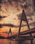 Megyeri bridge... by Csipesz