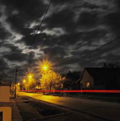 Night in village