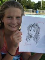 Allsion with her Portrait by IndigoFlamingo