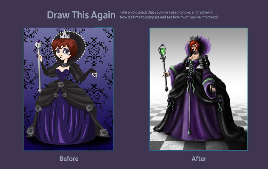 Draw the Black Queen Again by IndigoFlamingo