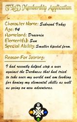 :TLoD: Sahrend Vohyz Membership App by Sahrend-the-Dragon