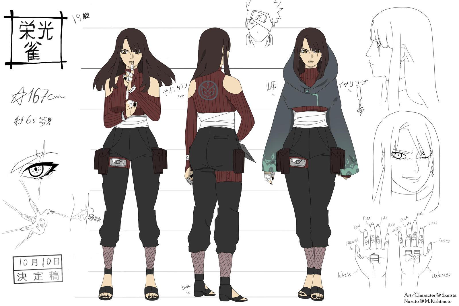 Naruto Oc Eiko Suzume By Shisaireru On Deviantart