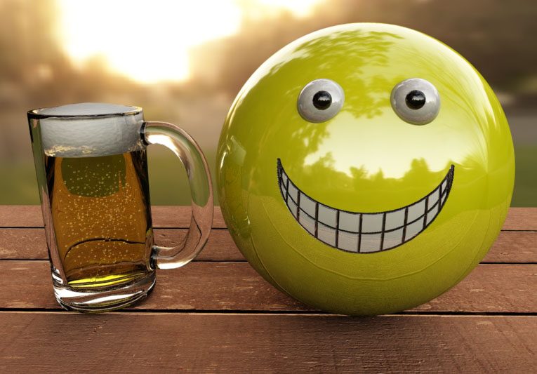 Smiley with beer