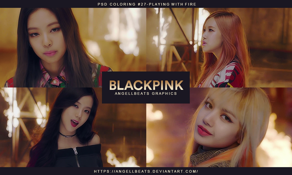 BLACKPINK [Playing With Fire] PSD by AngellBeats on DeviantArt