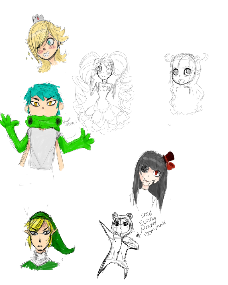 Sketch Dump of Randomness 1 by airilove
