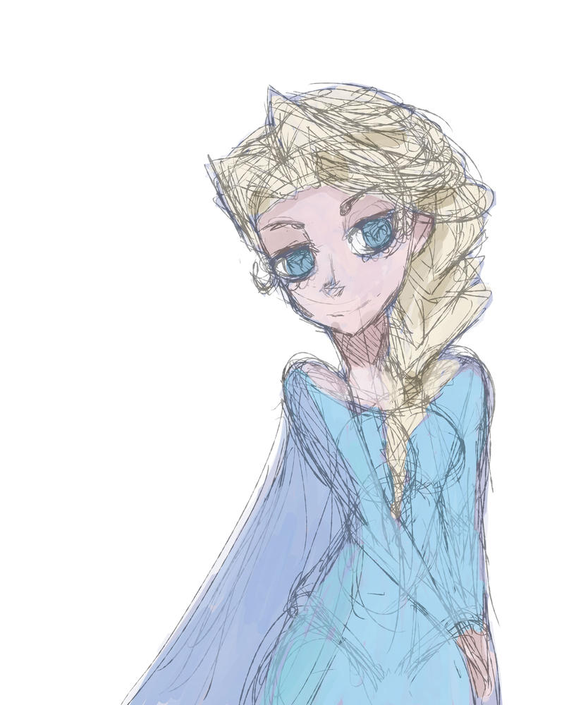 Elsa sketch by airilove