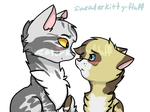 Cottonshine and Silvertail by Sweaterkitty-Fluff