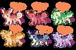 Mochikkin :Adoptables Set 1: (2/6 OPEN) by Sweaterkitty-Fluff