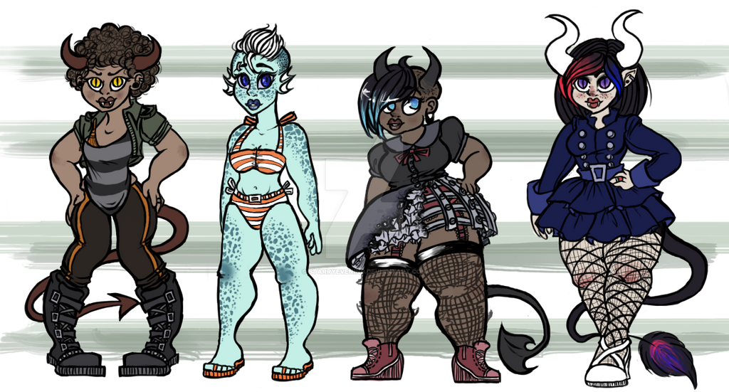 Monster Girl Adoptables! (( closed )) by StarryEvening