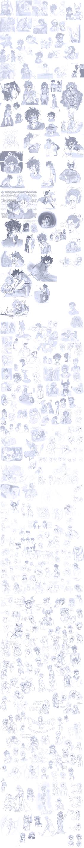 Doodle Dump III by StarryEvening