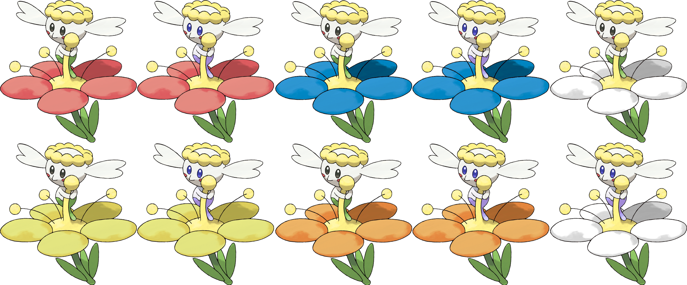 flabebe pokemon shiny - HD 2875×1196
