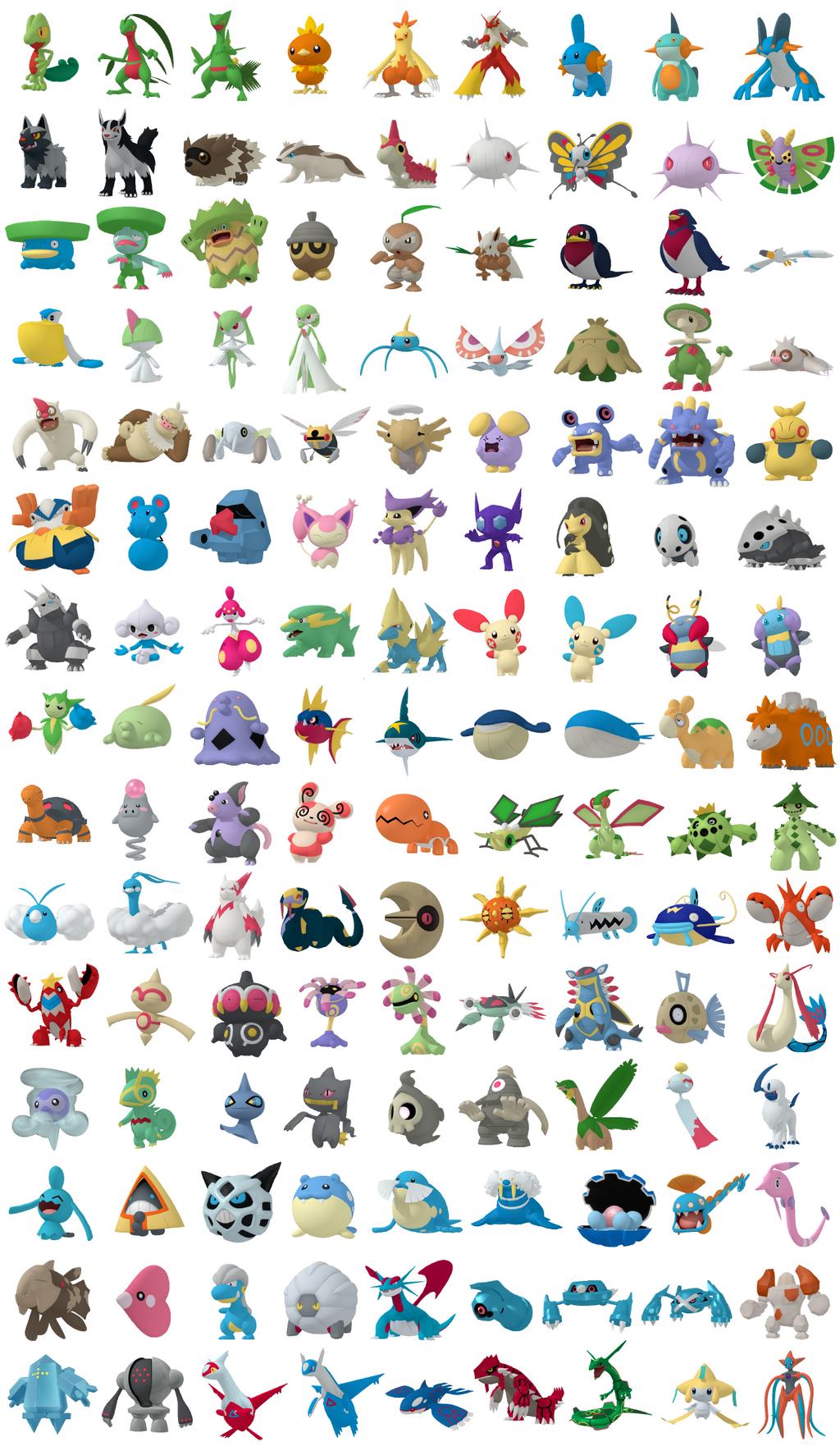 Pokemon 3d Pro Dex Hoenn By Krocf4 On Deviantart