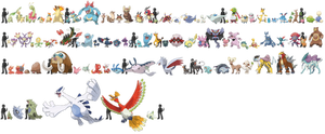 Pokemon Sizes (Johto) by KrocF4