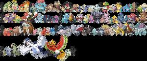 Pokemon Sizes (Johto)