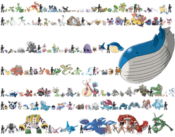 Pokemon Sizes (Hoenn) by KrocF4