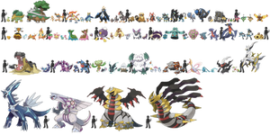 Pokemon Sizes (Sinnoh) by KrocF4