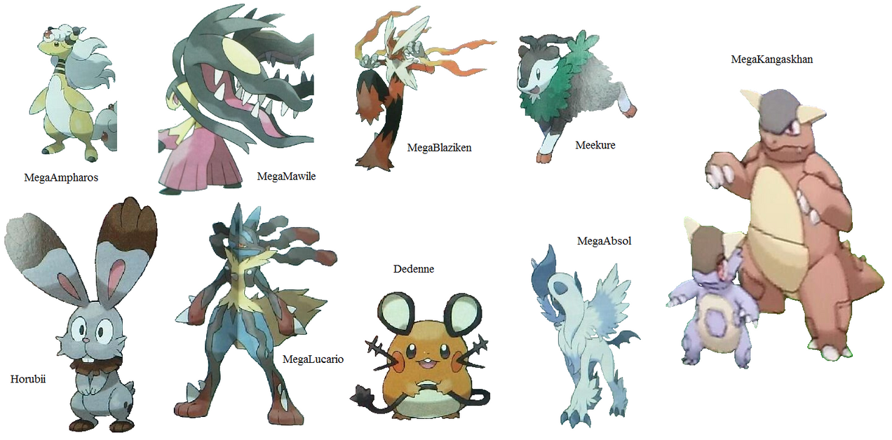 Pokemon x y mega evolution by krocf4 on deviantart - Table des types pokemon xy ...