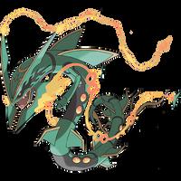 Mega Rayquaza by KrocF4