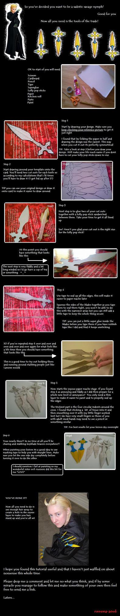 *Item for sale* tutorial: Larxene knives by ravens-soul