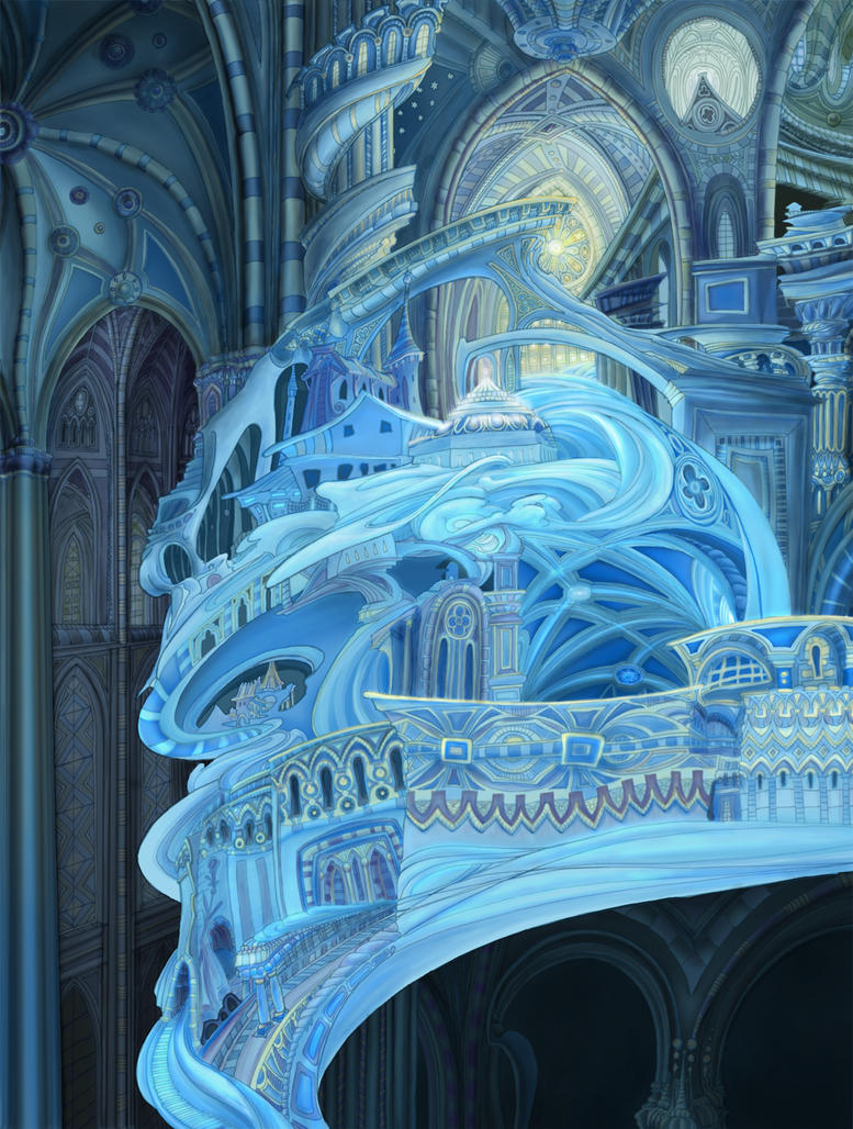 Fantasy architecture water by jesshough on deviantart for Architecture art