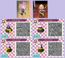 Sonic X dress QR Codes by fullmetalninja92