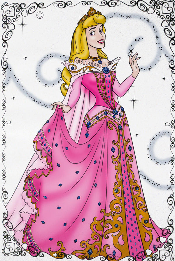 coloring pages princess aurora. Sleeping Princess Aurora by