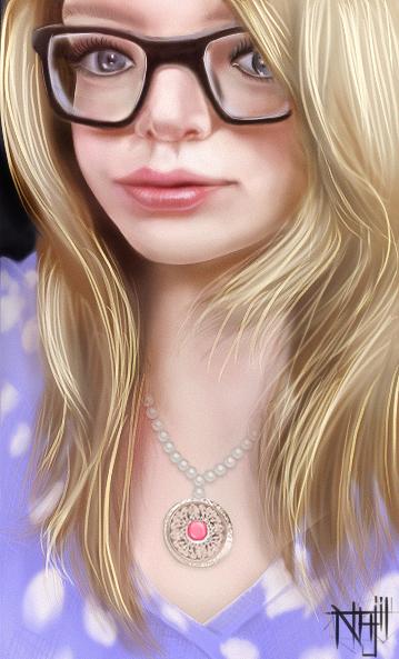Girl Face_by _najil _ayva by najil