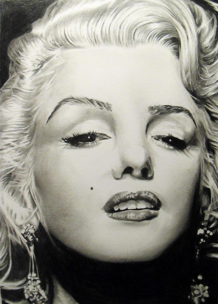 Marilyn Monroe process by jeanetkristensen