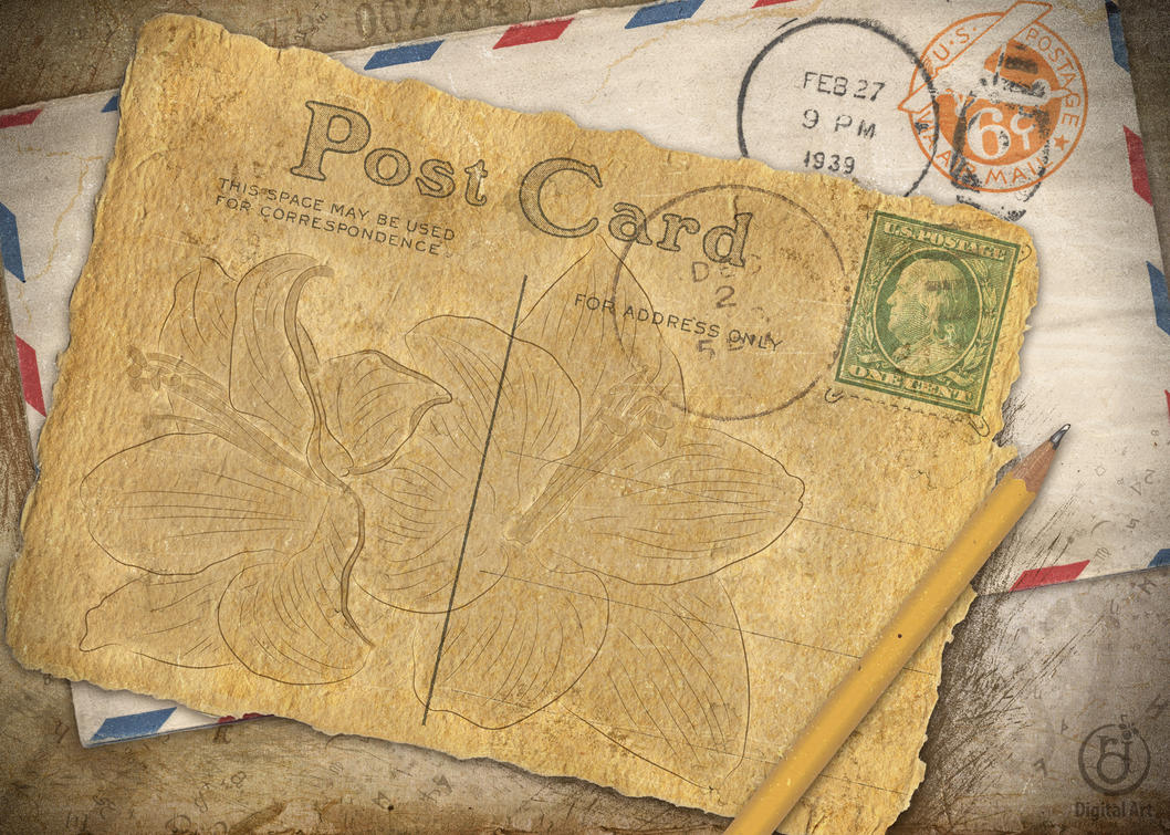 old postcard by rjdezigns - photo #1