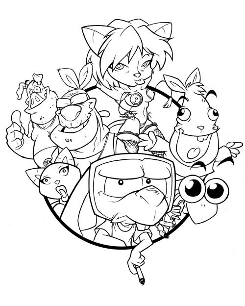 Conejo frustrado Line art by Etbaal