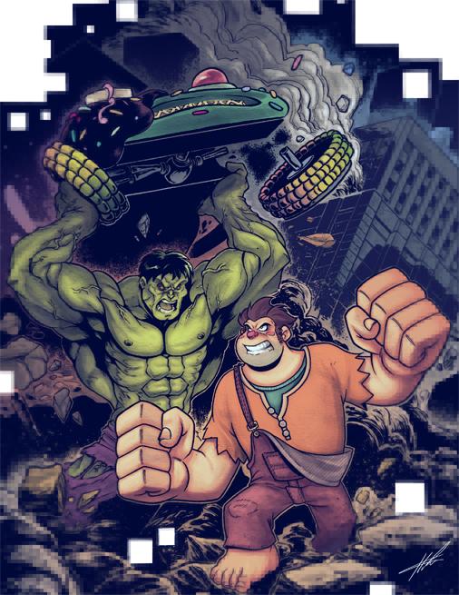 Werk it Hulk and Ralph smash by Etbaal