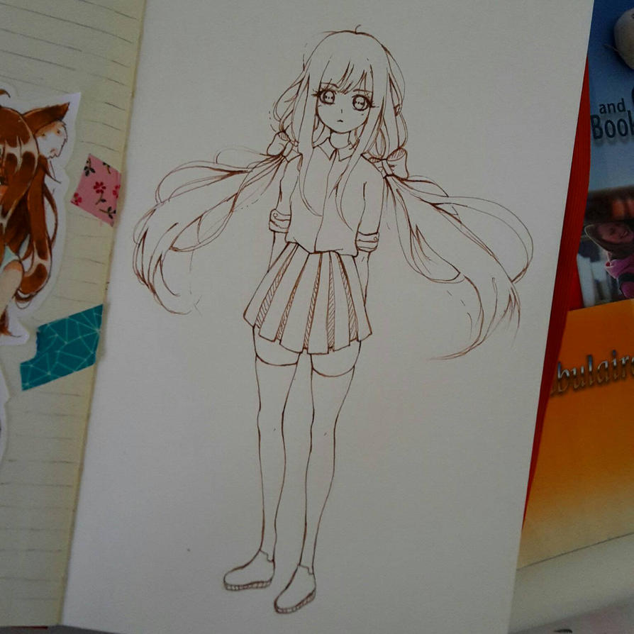 girl sketch by Yeikochin