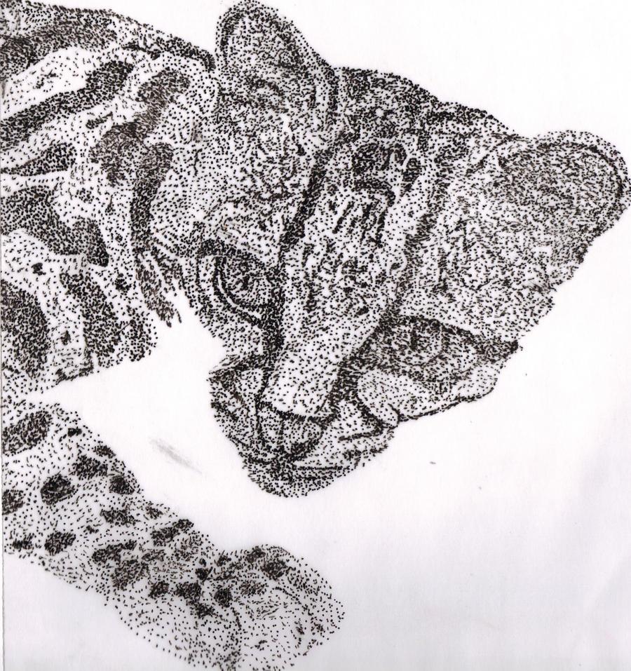 Jaguar Bebe - puntillismo by Nek0Natzumi on DeviantArt