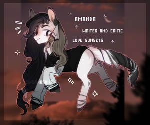 [adopt closed] pony writer. by babyhoshii