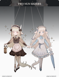 [auction open] two goat nuns sisters. PP ONLY