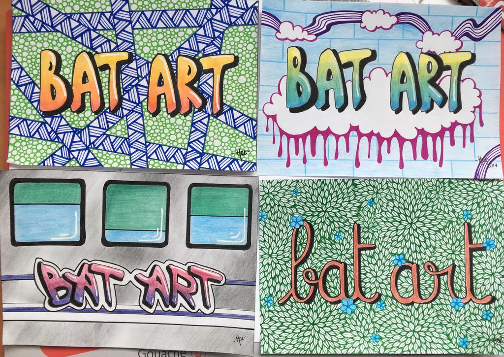 Bat.art post cards by hae-chan
